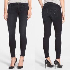 Hudson Lydia mid rise flap super skinny jeans